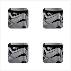 Star wars stormtrooper 28 rubber square coaster  4 pack  meitu 71