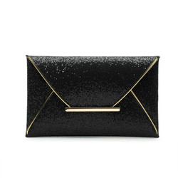 new hot of hand package women fashion sequins envelope bag personality clutch purse leather top
