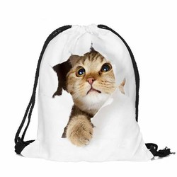 Unisex emoji animal dog cat candies backpacks 3d printing ba 3