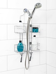Expandable shower caddy shelf organize cup