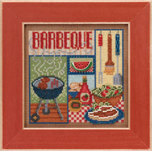Barbeque 2013 Spring Series beaded button kit Mill Hill image 1