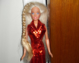 1995 Barbie Doll Wearing Red Outfit - $5.99