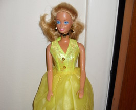 Barbie Doll Wearing Yellow Dress - $5.99