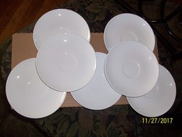 """10#A   Vintage 1960's Centura By Corning """"White Coupe"""" Saucers Set Of 8 ... - $14.78"""