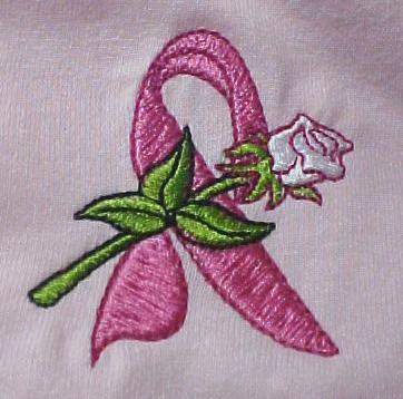 Breast Cancer Pink Ribbon Rose Pink Sweatshirt XL New