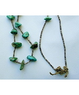 Vintage Santo Domingo Turquoise Nugget Necklace Heishi - $175.00