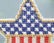 Patriotic Star Spring Bouquet 2013 collection beaded ornament kit Mill Hill image 2