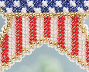 Patriotic Star Spring Bouquet 2013 collection beaded ornament kit Mill Hill image 3