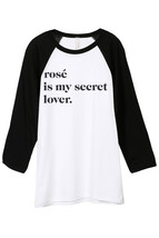Thread Tank Rose Is My Secret Lover Unisex 3/4 Sleeves Baseball Raglan T-Shirt T - $24.99+