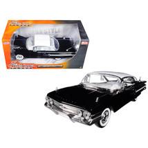 1960 Chevrolet Impala Black Showroom Floor 1/24 Diecast Model Car by Jad... - $34.69