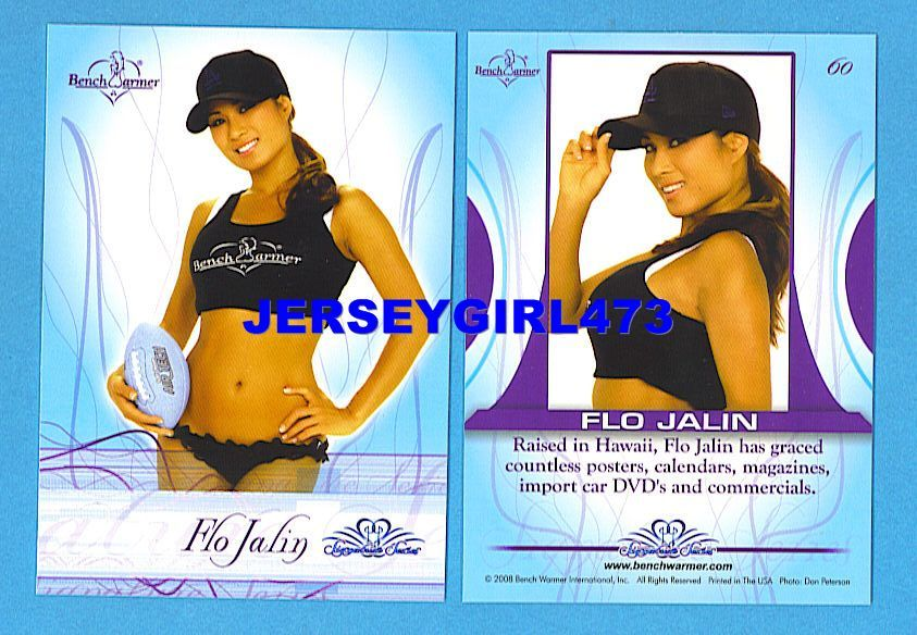 Sexy Flo Jalin 2008 Bench Warmer Signature Series Card #60