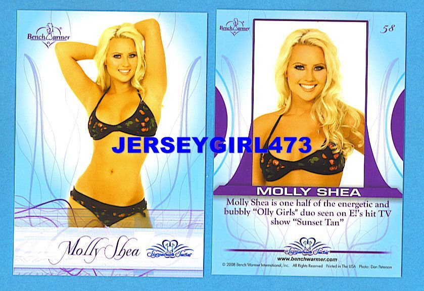 Sexy Molly Shea 2008 Bench Warmer Signature Series Card #58 ~ SUNSET TAN