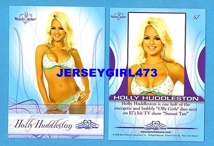 Sexy Holly Huddleston 2008 Bench Warmer Signature Series Card #57 ~ SUNSET TAN