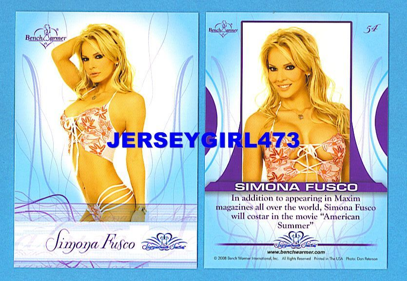 Sexy Simona Fusco 2008 Bench Warmer Signature Series Card #54