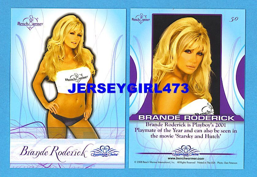 Sexy Brande Roderick 2008 Bench Warmer Signature Series Card #50