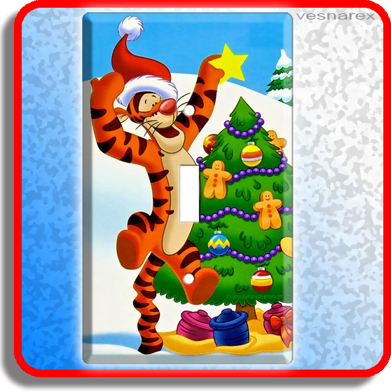 TIGGER WINNIE THE POOH LIGHT SWITCH COVER WALL PLATE SN