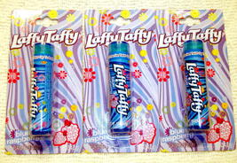 Laffy Taffy Candy Blue Raspberry Flavor Lip Balm Gloss 3 Pack Sealed - $4.98