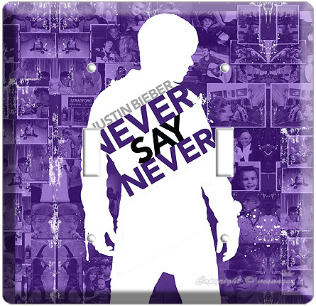 Primary image for JUSTIN BIEBER NEVER SAY PURPLE DOUBLE LIGHT SWITCH COVR