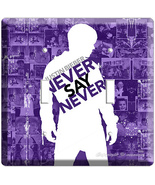 JUSTIN BIEBER NEVER SAY PURPLE DOUBLE LIGHT SWITCH COVR - $10.99
