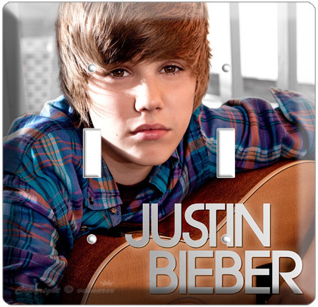 Primary image for JUSTIN BIEBER DOUBLE LIGHT SWITCH CD COVER WALL PLATE N