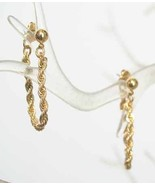 Avon Exquisite Art Moderne Goldtone Link Earrings - $12.95