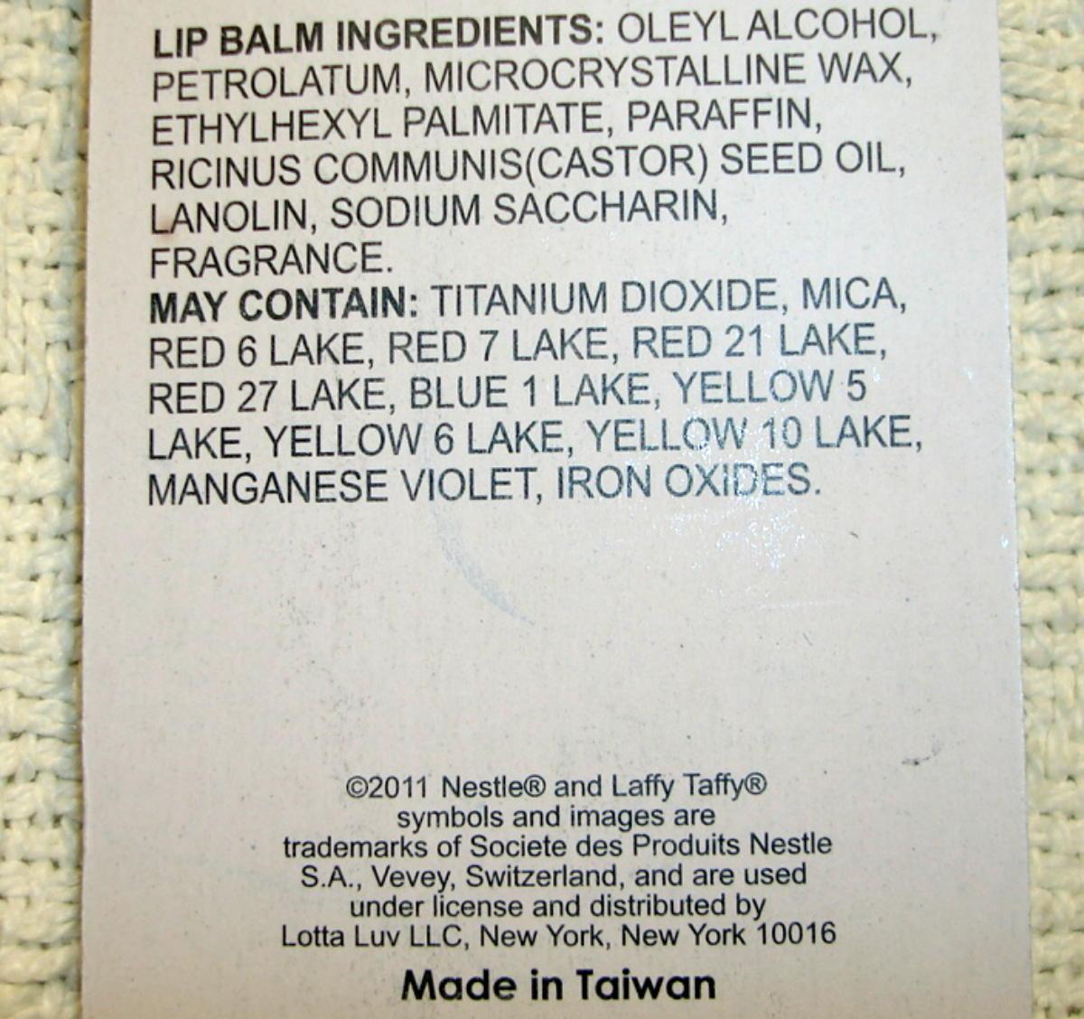 Laffy Taffy Candy Blue Raspberry Flavor Lip Balm Gloss 3 Pack Sealed