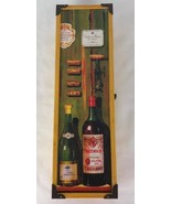 Vintage Wine gift box wood Hinged with Clasp - $13.70