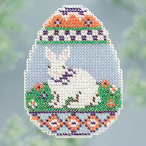 Bunny Egg Spring Bouquet 2013 collection beaded ornament kit Mill Hill