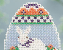 Bunny Egg Spring Bouquet 2013 collection beaded ornament kit Mill Hill image 2