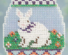 Bunny Egg Spring Bouquet 2013 collection beaded ornament kit Mill Hill image 3