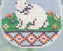Bunny Egg Spring Bouquet 2013 collection beaded ornament kit Mill Hill image 4