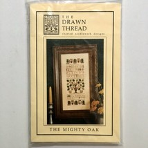 The Drawn Thread MIGHTY OAK Cross Stitch Pattern Chart Linen Sampler Fro... - $8.91