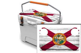 "Ozark Trail Wrap ""Fits 26qt Cooler"" 24mil Skin Lid Kit Florida Flag Wood - $29.95"