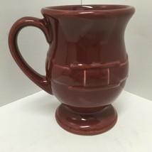 Longaberger Woven Traditions Maroon 16 Oz Grand Mug Pedestal Footed Latte Mug - $14.01