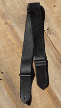 "Guitar Strap/Black Leather 2"" adjustable - $39.95"