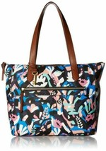 Fossil Fiona East West Painted Floral Tote Bag, Black Multi - $97.02