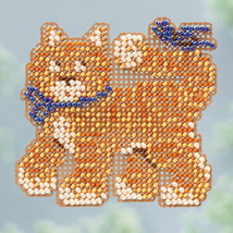 Cool Cat Spring Bouquet 2013 collection beaded ornament kit Mill Hill image 1