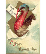A Happy Thanksgiving Artist Ellen Clapsaddle German Vintage Post Card  - $6.00
