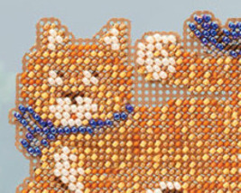 Cool Cat Spring Bouquet 2013 collection beaded ornament kit Mill Hill image 2