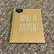 """NEW Rae Dunn 2021 Brown """"MAKE IT HAPPEN"""" 12 Month Spiral Bound Yearly Pl... - $11.88"""