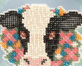 Elsie cow Spring Bouquet 2013 collection beaded ornament kit Mill Hill image 2