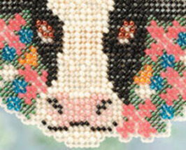 Elsie cow Spring Bouquet 2013 collection beaded ornament kit Mill Hill image 3