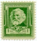 1940 1c Henry W. Longfellow Scott 864 Mint F/VF NH