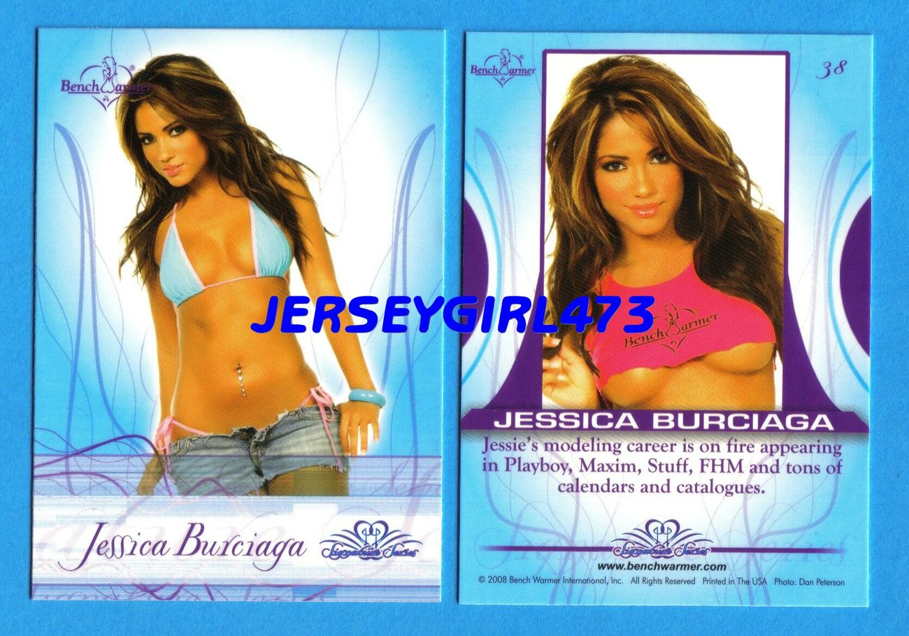 Sexy Jessica Burciaga 2008 Bench Warmer Signature Series Card #38