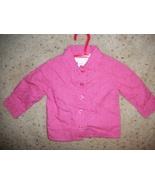 Baby Girls Wonder Kids Pink Button Shirt Size 6-9 Months - $2.53