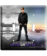 JUSTIN BIEBER NEVER SAY POSTER DOUBLE LIGHT SWITCH COVR - $11.99