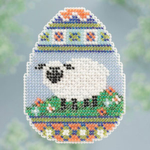 Sheep Egg Spring Bouquet 2013 collection beaded ornament kit Mill Hill - $6.30