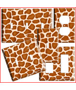 GIRAFFE PRINT KIDS CHILD ROOM DECOR LICHT SWITCH OUTLET - $8.99