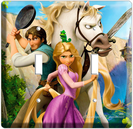 RAPUNZEL FLYNN TANGLED MOVIE DOUBLE LIGHT SWITCH COVER