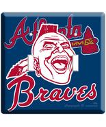 ATLANTA BRAVES MLB BASEBALL DOUBLE LIGHT SWITCH PLATE - $11.99